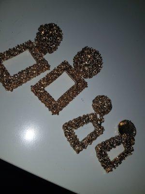 H&M Wiszące kolczyki złoto