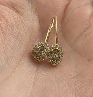 Echtgold Pendientes de oro color oro-color plata