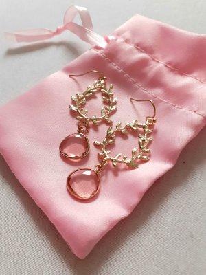Impressionen Pendientes colgante color oro-rosa