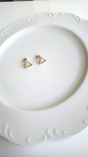 Ohrringe Dreiecke mit strassbesetzter Kante