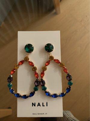 Nali Pendientes colgante multicolor