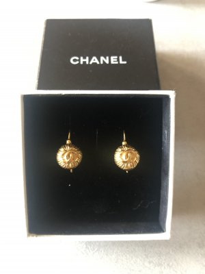 Chanel Statement Earrings bronze-colored