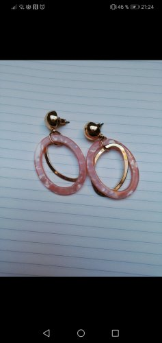 Accessorize Dangle gold-colored-light pink