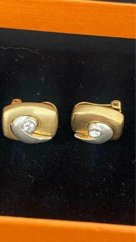 Juwelier Clip d'oreille doré-gris clair métal