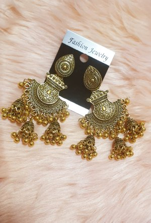 fashion jewelery Gold Earring gold-colored