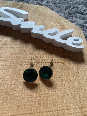 Bijou Brigitte Bungeloorbellen donkergroen-groen