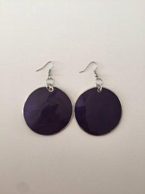 Ohrringe in Silber/lila