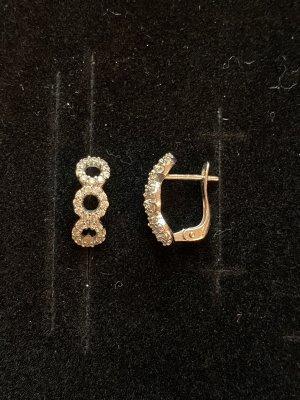 Ohrringe in Silber mit Strasssteine