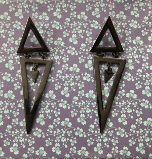 Statement Earrings bronze-colored-silver-colored