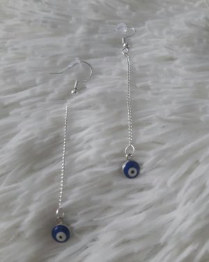 NoName Pendientes de plata color plata-azul