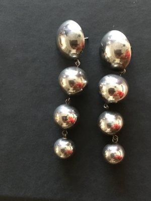Bungeloorbellen zilver Zilver