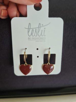 leslii Statement Earrings carmine-bordeaux