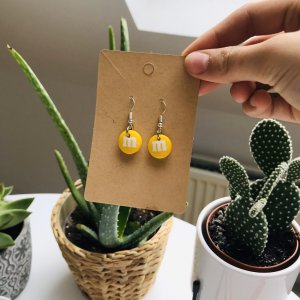 10 Days Silver Earrings white-yellow