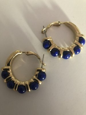 Pearl Earring gold-colored-blue