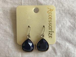 Accessorize Orecchino a pendente argento-blu