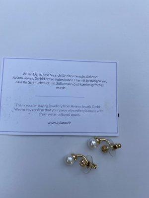 Ohrringe mit Perle Süsswasserperle Aviano Jewels Goldfarben