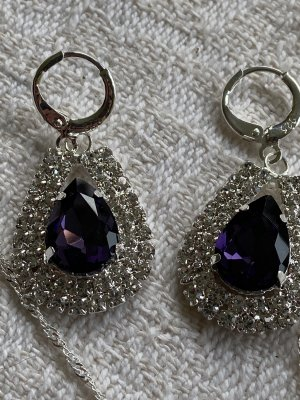 Statement Earrings silver-colored-lilac