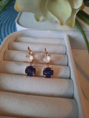 Swarovski Elements Dangle white-lilac