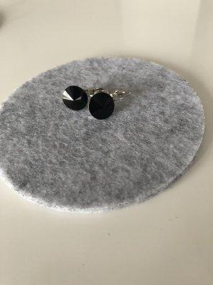 Ohrringe mit Swarovski Stein in schwarz Ohrhänger Schmuck