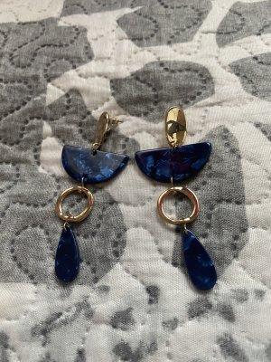 Zdobione kolczyki niebieski
