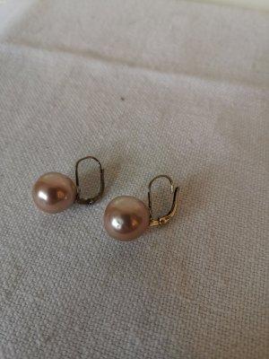 Boucles d'oreilles en argent argenté-rose clair