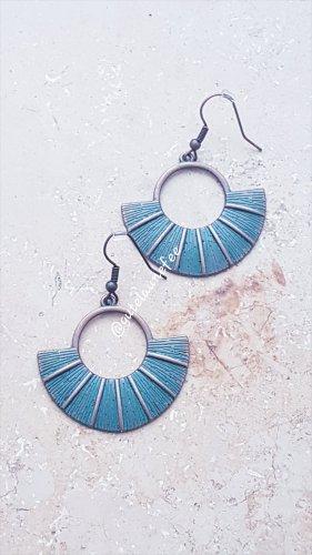 Ohrringe Ohrhänger Boho Vintage blau türkis