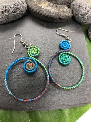 Handmade Dangle multicolored cotton