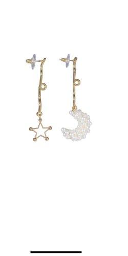 Ohrringe Ohrhänger gold Designer Trend 2020 stellar Mond moon stars Stern Perlen metall