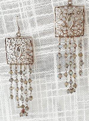 Dangle silver-colored real silver