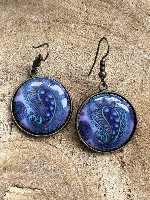 Handmade Pendant d'oreille violet-mauve