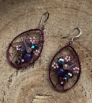 Handmade Pendant d'oreille multicolore