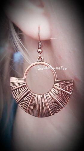 Ohrringe Ohrhänger rosegoldfarben Boho Kleopatra Fächer