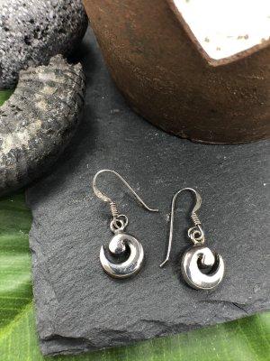 Ohrringe Ohrhänger Silber 925 kleine Spirale 1,4 cm