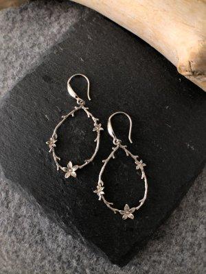 handmade Silver Earrings silver-colored