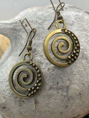 Ohrringe Ohrhänger Spirale 4,2x2,1 cm antik messingfarben nickelfrei