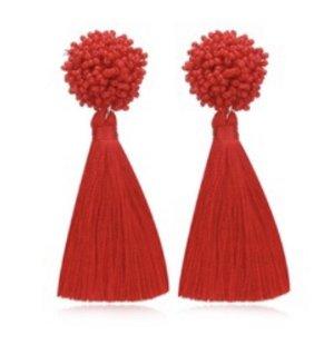 accessories Orecchino a vite rosso
