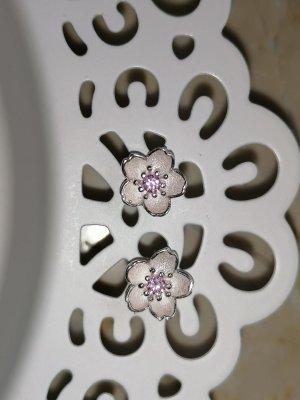 Boucles d'oreilles en argent argenté-rose