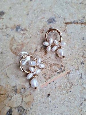 Vintage Boutique Collection Pendientes de perlas multicolor