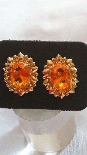 Boucles d'oreille en or doré-orange