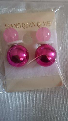 Ohrringe Ohrstecker Perlen rosa/pink