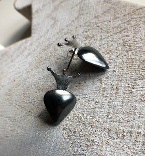 Handmade Silver Earrings silver-colored-anthracite
