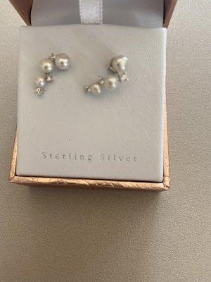 Ohrringe Perle Silber