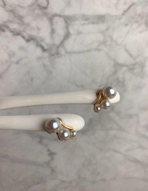 Ohrringe Perlen Stecker gold neu ungetragen