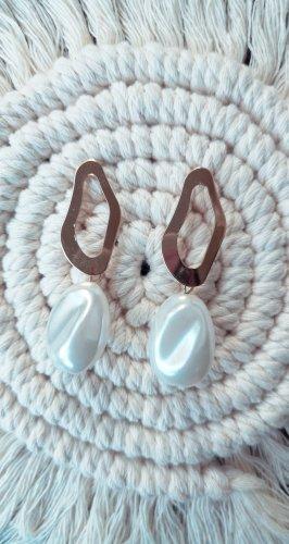 Ohrringe Perlen weiß blogger hipster boho