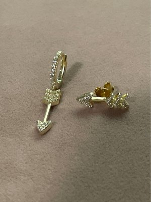 925er Silber Orecchino d'oro oro