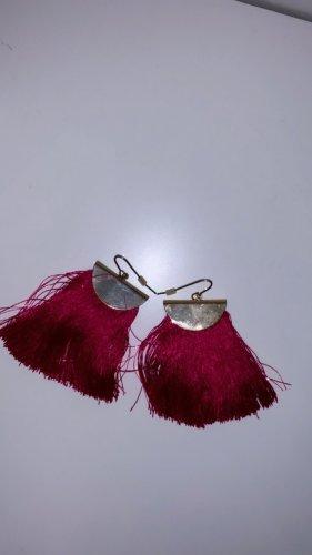 Ohrringe pink rosa rot gold schmuck armband halskette