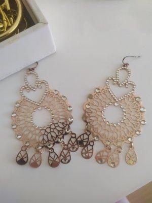 Ohrringe rosegold mit Strass Modeschmuck