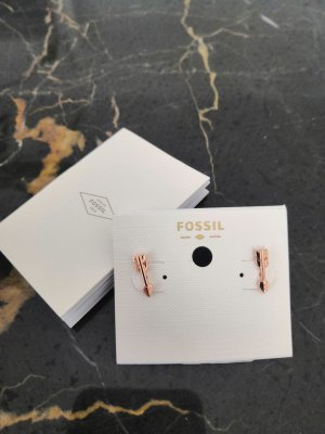Fossil Boucles d'oreille en or or rose