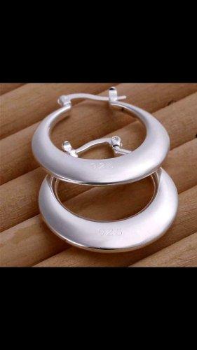 echt Silber 925 Orecchino a pendente argento