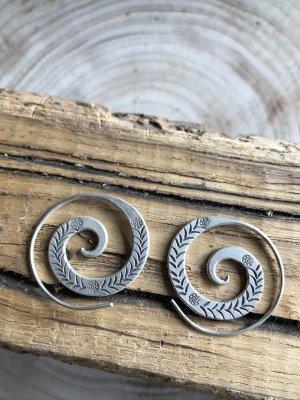Handmade Orecchino a cerchio argento